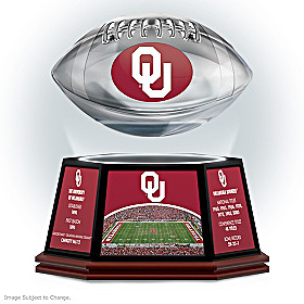 University Of Oklahoma Levitating Football Sculpture