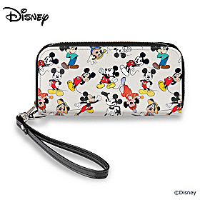 Disney Mickey Mouse Through The Years Wallet