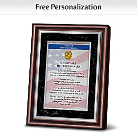 Police: Blessed Are The Peacemakers Personalized Frame