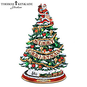 Thomas Kinkade A Visit From Santa Christmas Tree