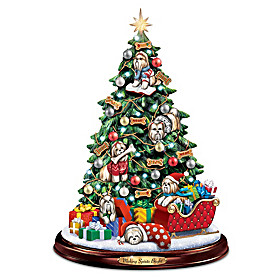 Making Spirits Bright Shih Tzu Christmas Tree