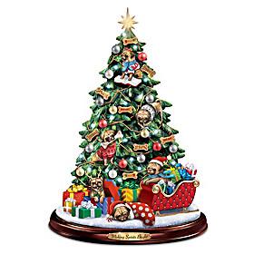 Making Spirits Bright Pug Christmas Tree