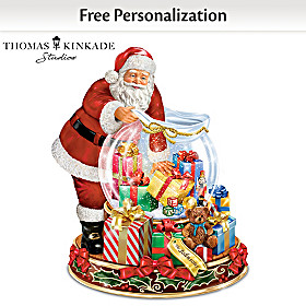 Thomas Kinkade Wishes Come True Personalized Snowglobe
