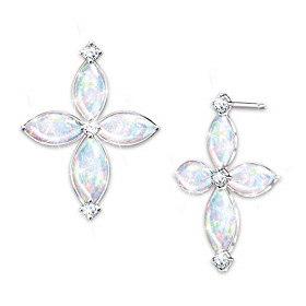 The Trinity Opal And Diamond Earrings