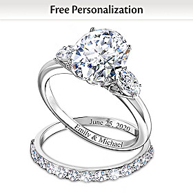 Brilliance Of Our Love Personalized Bridal Ring Set