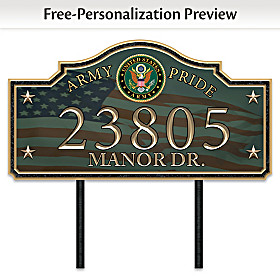 Army Pride Personalized Address Sign