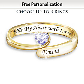 Forever In A Mother's Heart Personalized Ring
