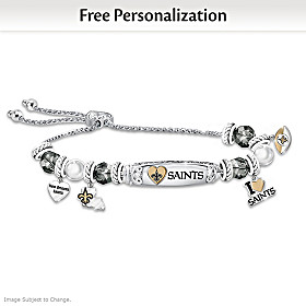 I Love My Saints Personalized Bracelet