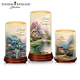Thomas Kinkade The Light Of Home Candle Set