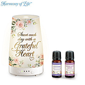 Grateful Heart Essential Oils And Diffuser Set