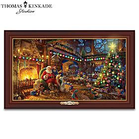 Thomas Kinkade Santa's Night Before Christmas Wall Decor