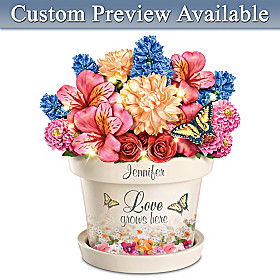 Love Grows Here Personalized Table Centerpiece
