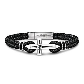 Prayer For My Grandson Men's Bracelet