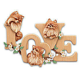 Lovable Pomeranians Wall Decor
