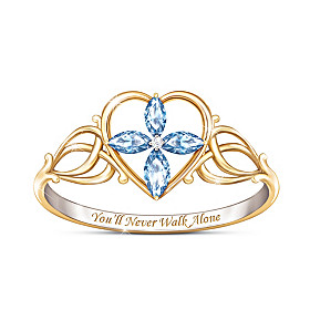 You'll Never Walk Alone Topaz And Diamond Ring
