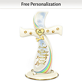 The Rainbow Bridge Personalized Cross