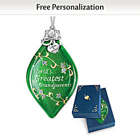 World's Greatest Grandparents Personalized Ornament