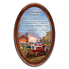 A Farmer's Prayer Collector Plate