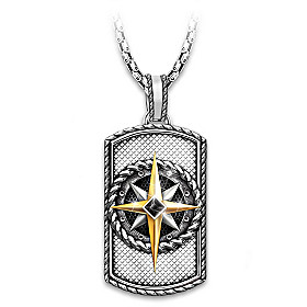 Compass Of Faith Pendant Necklace