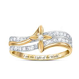 God Is The Light Diamond Ring