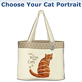 Life Is Better With Cats Tote Bag