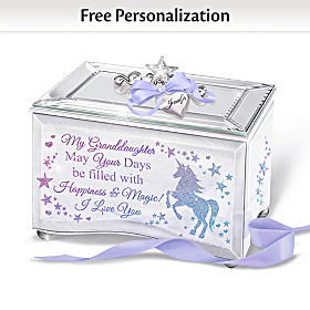 My Granddaughter, Believe In Magic Personalized Music Box