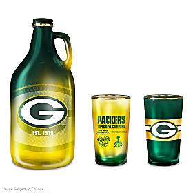 Green Bay Packers Growler Set