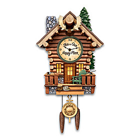 Cabin Retreat Wall Clock