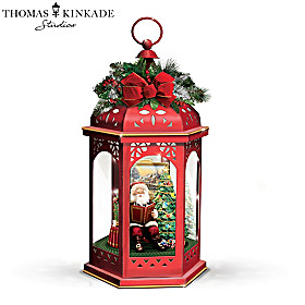 Thomas Kinkade Merry Christmas To All Lantern