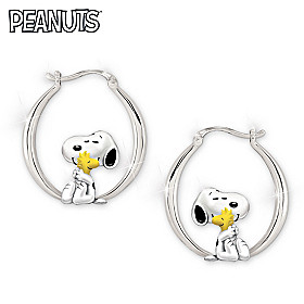 Snoopy And Woodstock Friends Forever Earrings