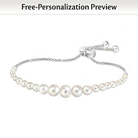 Daughter Pearls Of Wisdom Personalized Diamond Bracelet