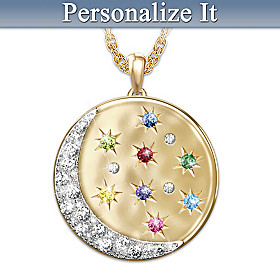 Shining With Love Personalized Pendant Necklace