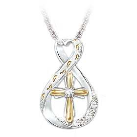 Footprints In The Sand Diamond Pendant Necklace