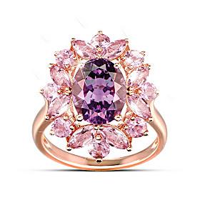 Amethyst Radiance Ring
