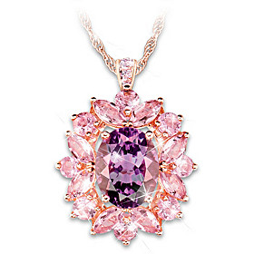Amethyst Radiance Pendant Necklace