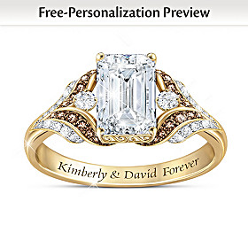 Love Of My Life Personalized Topaz And Diamond Ring