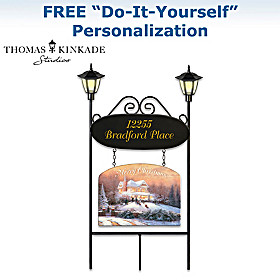 Thomas Kinkade Welcome Home Address Sign Set