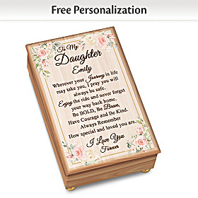 To My Daughter Personalized Music Box