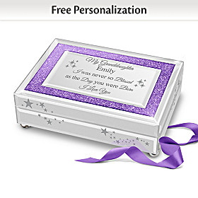 Granddaughter, You Sparkle And Shine Personalized Music Box