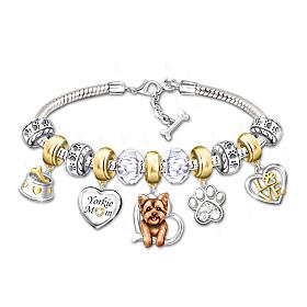 Yorkie Mom Bracelet
