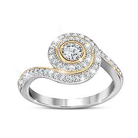 Sparkling Embrace Ring