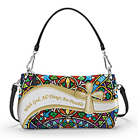 With God, All Things Are Possible Handbag