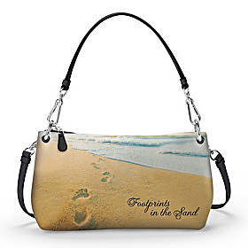 Footprints In The Sand Handbag