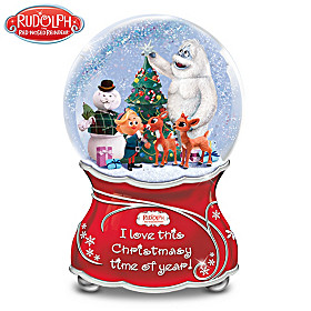 Rudolph The Red-Nosed Reindeer Glitter Globe