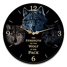 Strength Of The Pack Wall Clock