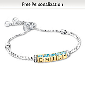 My Beautiful Granddaughter Personalized Bracelet