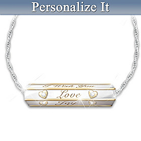 Wishes For My Daughter Diamond Pendant Necklace