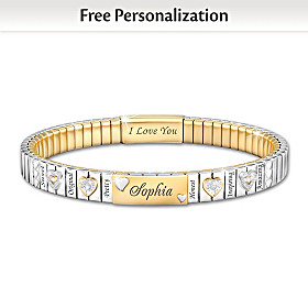 I Love You, My Granddaughter Personalized Bracelet