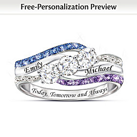 Today, Tomorrow And Always Personalized Ring