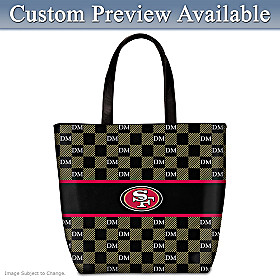 San Francisco 49ers Personalized Tote Bag